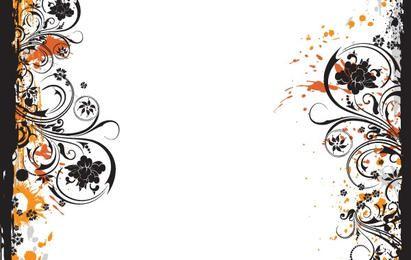 Design de moda padrão de flor