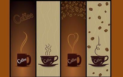 Café Banners vectoriales
