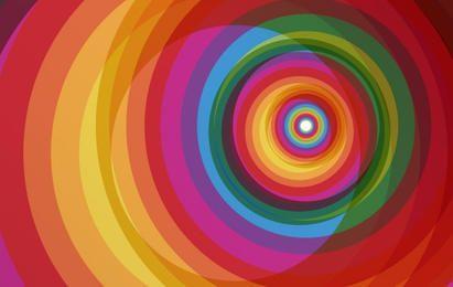 Fondo de vector de arco iris espiral