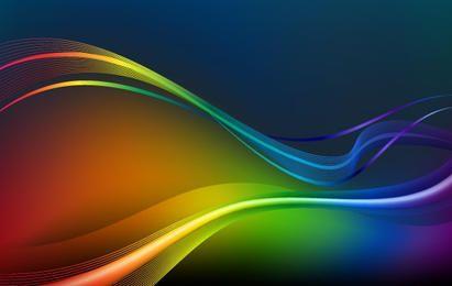 Ondas coloridas y líneas de fondo vector