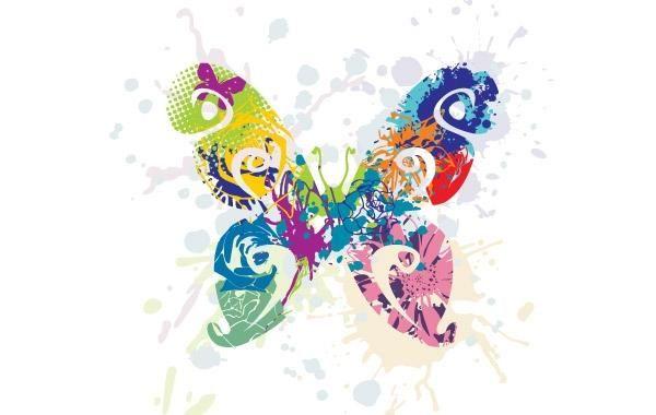 Resumen mariposa Vector Graphic