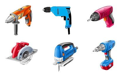 Electric Tools Vector Set