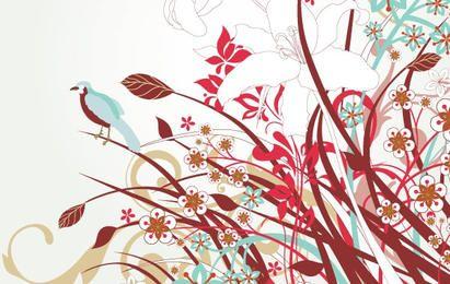 Arte vetorial floral livre