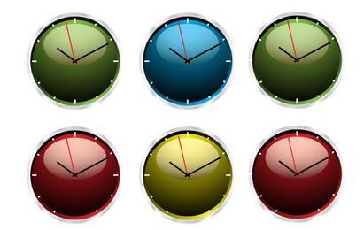 Uhr-Vektor-Illustrationen