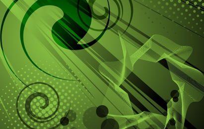 Fondo verde abstracto del vector