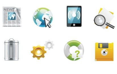 Paquete de iconos vectoriales de escritorio