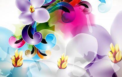 Ilustración del ornamento floral del vector