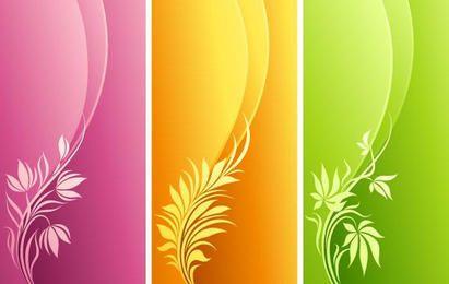 Mode Blumen mit Kurvenhintergrund