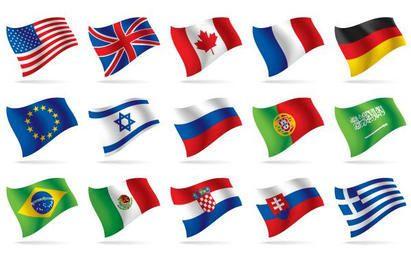 World Flag Vetores Nacionais