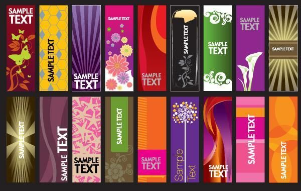 30 vector vertical banner templates - Vector download