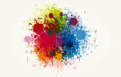 Ilustração colorida de salpicos