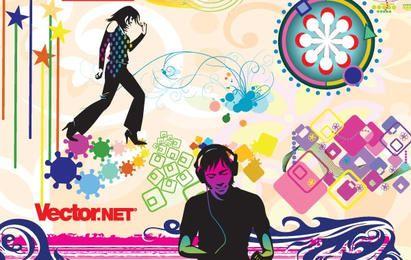 Music & Nightlife Flyer Vector Design Elements