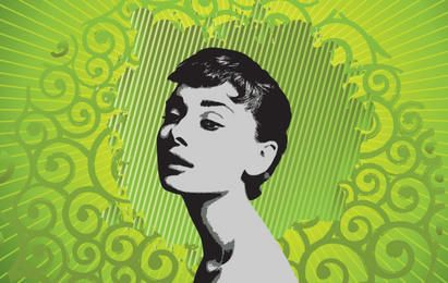 Ilustración de Audrey Hepburn