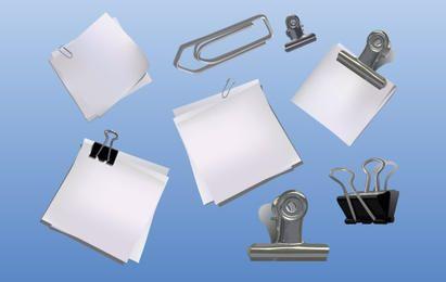 Elementos de mesa de escritório