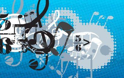 Fundo de composição musical