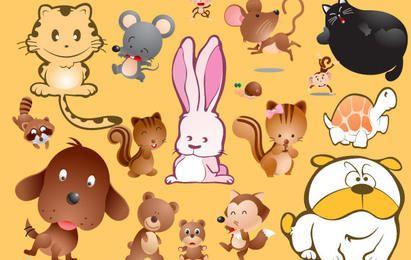 Desenhos animados animais de Vetores
