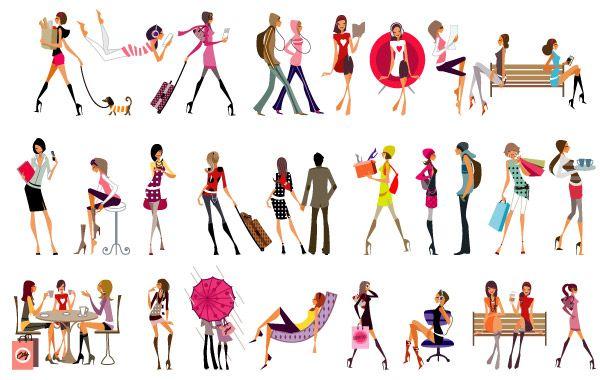Vector Glamour Girls