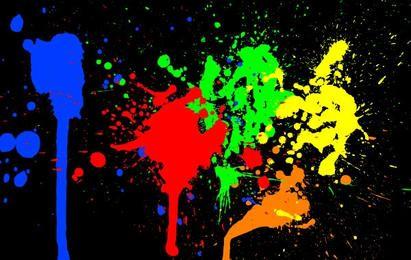 Salpicaduras de pintura de color