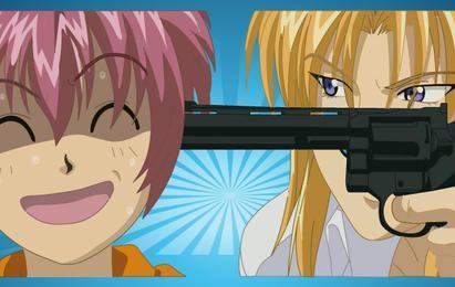 Anime-Gewalt-Vektor