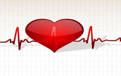 Heart with life line