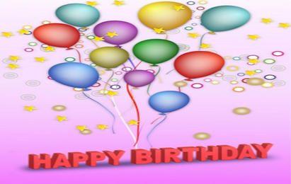 Feliz aniversário de vetor