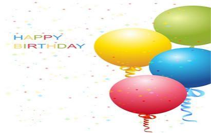 Vector de plantilla de cumpleaños