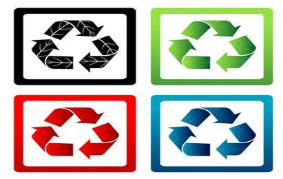 Conjunto de símbolos de reciclagem de vetor
