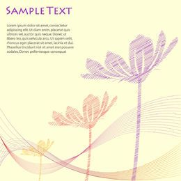 Plantilla floral del vector