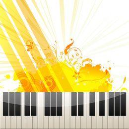 Klaviertasten auf abstraktem Hintergrund