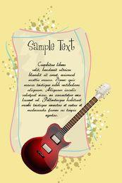 Guitarra con plantilla de texto