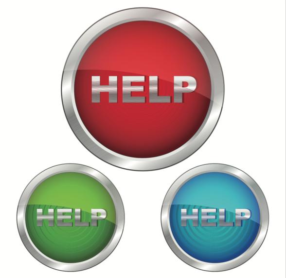 Conjunto de ícones de ajuda