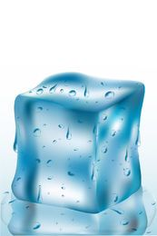 Geschmolzener Eiswürfel