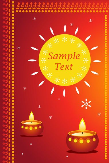 Diwali Card Vector Download