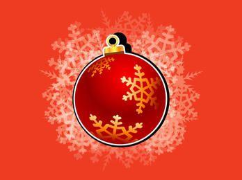 Christmas Ornament Ball with Snowflakes