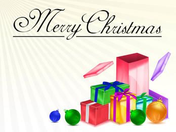 Pacote de presentes de Natal 3D detalhada