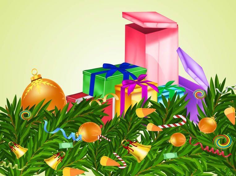 3D Xmas Ornaments & Presents