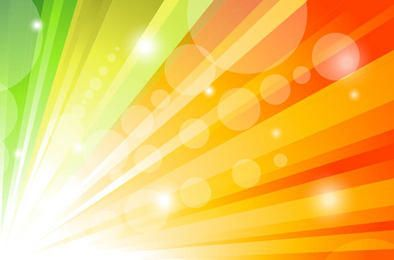 Glorious Colorful Sun Shine Background