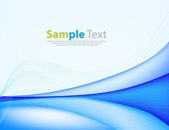 Kreative blaue Kurven u. Gewundene Linien Hintergrund