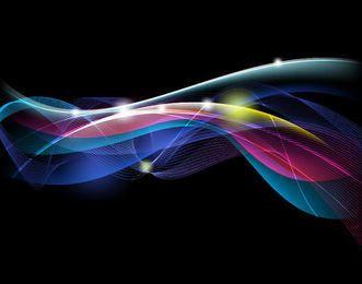 Fondo de líneas y curvas de corriente de energía