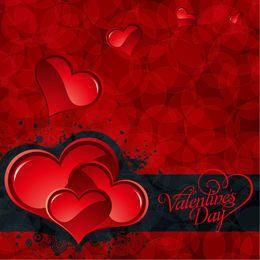 Tarjeta del día de San Valentín de Bokeh Patten