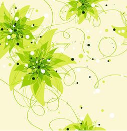 Blumen- und Kriechpflanze verlässt nahtloses Muster