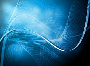 Abstract Blue Light Waves & Lines Background