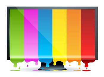 Monitor com Display Espirrado Multicolor