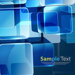 Fluoreszierender blauer Quadrat-Geschäfts-Hintergrund