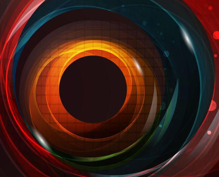 Colorful Glossy Swirling Hole Background