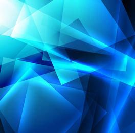 Bright Blue Crystallized Squares Background