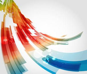 Colorful Abstract Squares Curvy Background