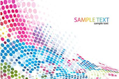 Colorful Halftone Dotted Pixilated Background