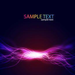 Glänzende Neonglühen-Energie zeichnet Hintergrund