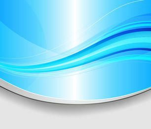 Curvy Cutting Edge Blue Waves Background